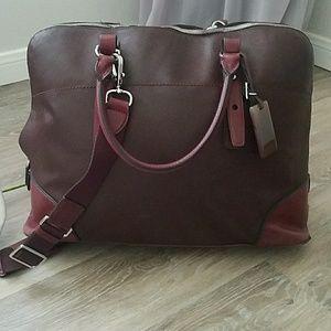 Vintage TUMI Caramel Leather Commuter Business Bag